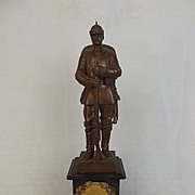 Circa 1896 Bronze Memorial Statue Of A German Soldier By R. Bellair & Co.