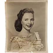 Signed Autograph Universal Piper Laurie Studio Shot 1954
