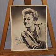 Signed Autograph Kim Novak Studio Shot Circa 1950's