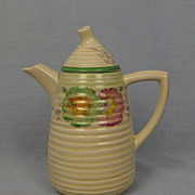 Clarice Cliff Lynton Shape Sundew Green Pattern Coffee Pot Circa 1936