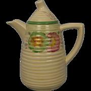 Clarice Cliff Lynton Shape Sundew Green Pattern Coffee Pot Circa 1936