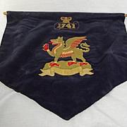 Victorian The Buffs (Royal East Kent Regiment) Music Drape Banner