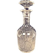 Medium Sized Victorian Cut Crystal Glass Decanter