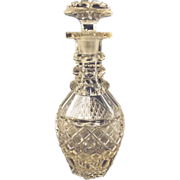Compact Victorian Cut Crystal Glass Decanter