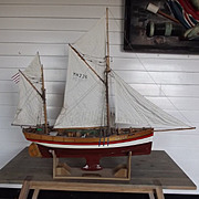 !!!SOLD!!! Hand Built Model Of The Circa 1875 Sailing Trawler Sandpiper