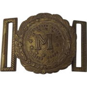 American Civil War Period Confederate States Marine Corp Navy Belt Buckle 1861-65