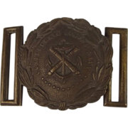 American Civil War Period Confederate States Naval Officers Belt Buckle 1861-65