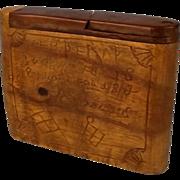Boer War Treen Cigarette Case 1899-1902