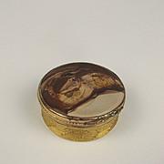 Circa 1840 Silver Gilt & Agate Snuff Box