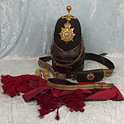 Major T. Morris - Army Service Corps Blue Cloth Helmet & Cross Belt Etc.