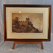 Derek G. Phillips Watercolour Of The Mound, Warwick Castle 1990