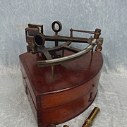 Mid 19th Century Cased Marine Sextant By J. Somalvico And Co. London