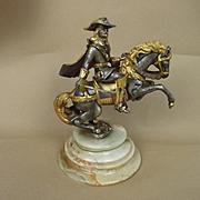 Gippe Vasari Hero Series Horseback Cavalier - Silver & 22K Gilded Figurine