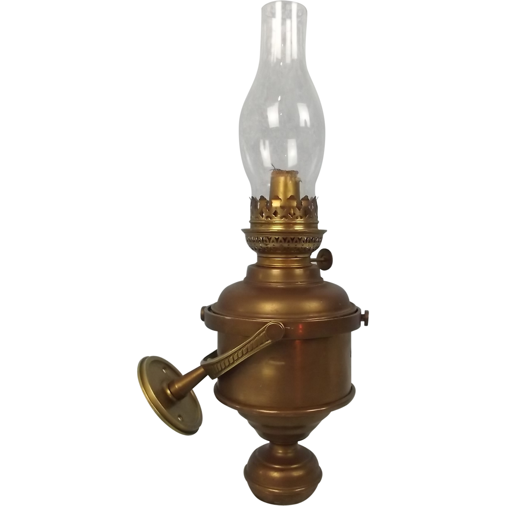 Wall Mounted Brass Oil Lamps : Nautical Brass Gimballed Wall Oil Lamp from theantiquesstorehouse on Ruby Lane