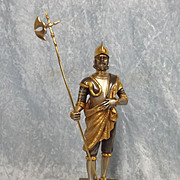 Gippe Vasari Hero Series Italian Guard Silver & Gold Gilt Figurine