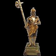 Gippe Vasari Hero Series Italian Guard Silver & Gold Gilt Figurine