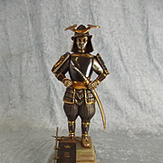Gippe Vasari Gold And Silver Gilt Bronze Figure Of A Samurai Warrior