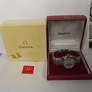 Boxed Omega Constellation Perpetual Calendar Double Eagle Wristwatch