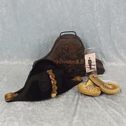 Royal Navy Officer's Cased Bicorn Hat & Epaulettes c1920/30's