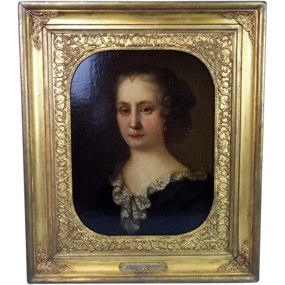 "17th Century Oil Painting of ""Duchess Of Portsmouth"" Attributed To Sir Peter Lely"