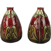 Pair Of Early 20th Century Minton Secessionist Vases No. 301