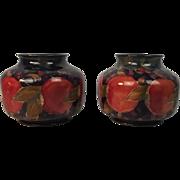 Pair Of William Moorcroft Bulbous Pomegranate Vases Circa 1920's