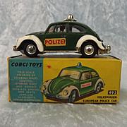Boxed Corgi Toys No. 492 VW European Police Car 1966-69