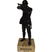 German Soldier 1936-7 Pre War Shooting Prize Spelter Trophy