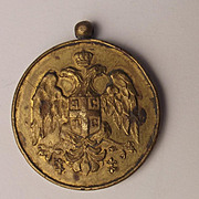 1913 Second Balkan War Serbian Royal 'Gold' Medal For Zealous Service