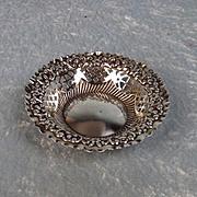 Late Victorian Small Silver Bon Bon Dish Chester 1898