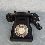 c1950's Black Bakelite Telephone