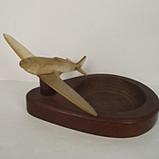 World War 2 Trench Art Spitfire – Made From Canopy Perspex