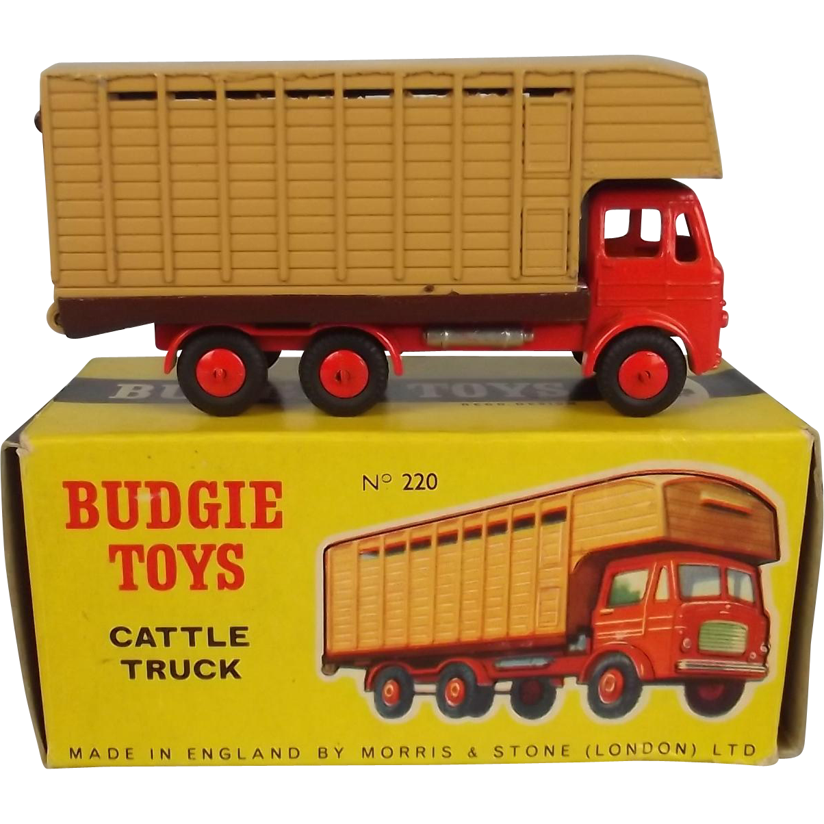 Boxed Budgie Toys No 220 Cattle Truck 1959 66 From
