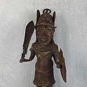 19th Century Benim African Bronze Tribal Figure