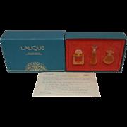 Lalique Les Introuvables Three Bottle Set (1992/94/95)