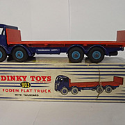 Boxed Dinky No. 903 Foden Flat Truck With Tailboard Blue And Orange