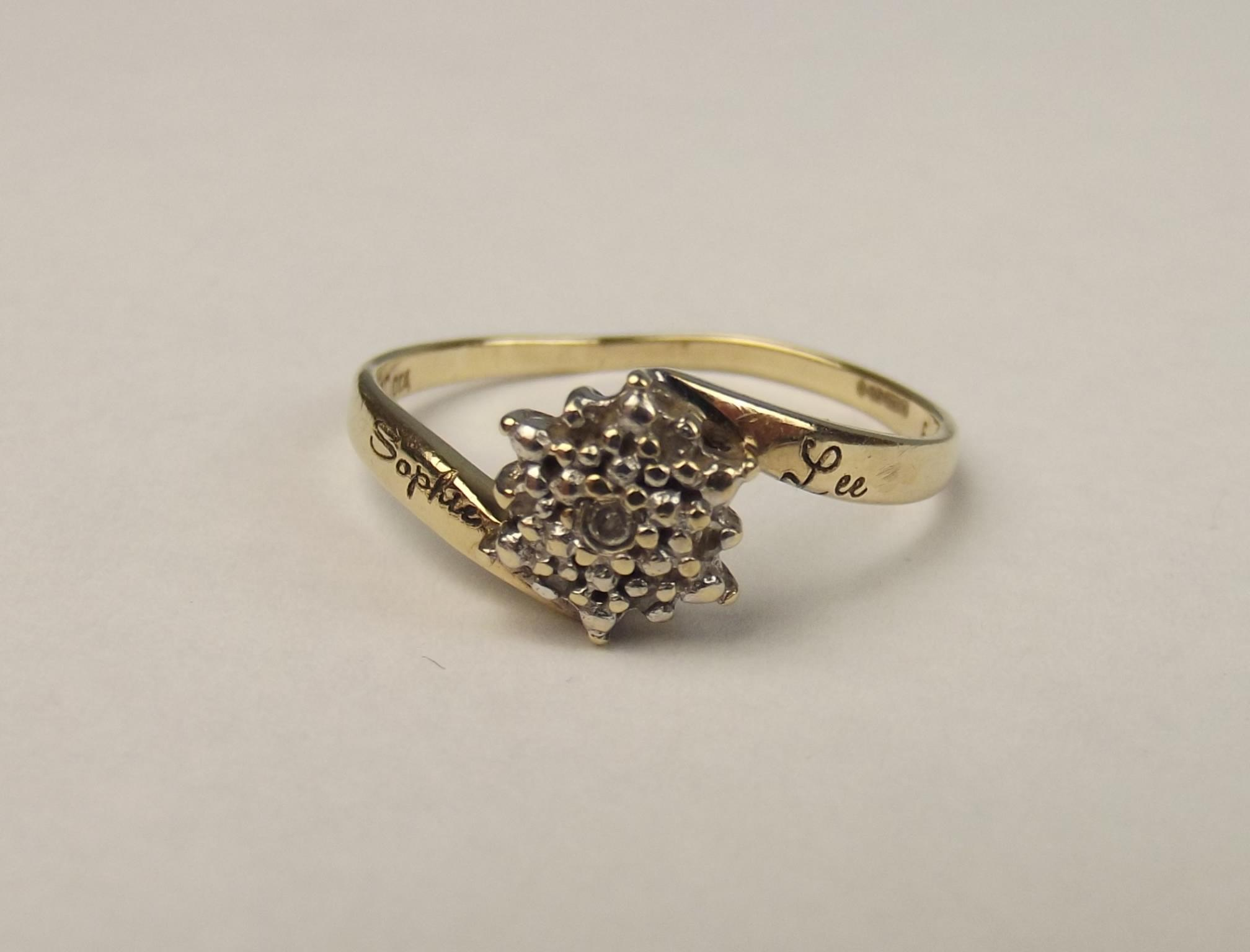 9ct yellow gold 7 ring uk size s us 9 188 from