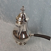 Continental 0.800 Baluster Form Silver Coffee Pot