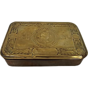 Brass Princess Mary Christmas Tin 1914