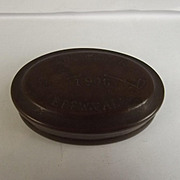 Welsh 1908 Brass Miners Tobacco Tin