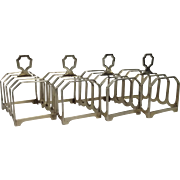 Set of 4 Silver 4 Slice Toast Rack Sheffield 1936 Synyer & Beddoes