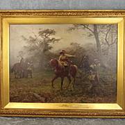 Very Fine  Charles II The Boscobel Oak 1889 Original Oil On Canvas By Ernest Crofts 1847-1911
