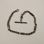 Silver Albert Watch Chain With Long Double Links