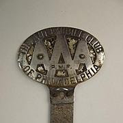 Vintage Automobile Club Of Philadelphia AAA Car Badge