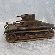 Working Pre-War GAMA Clockwork Tin Plate Tank Model No. 60