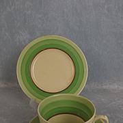 Clarice Cliff Liberty Pattern Three piece Tea Set Circa 1930's