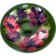 Moorcroft Clematis Large Footed Bowl