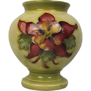 Moorcroft Columbine Pattern Small Vase With Queen Mary Label