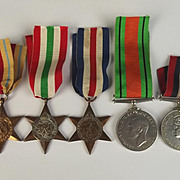 WW2 3 Star Medal Set