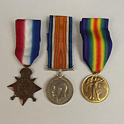 WW1 Medal 1914/15 Trio 2542 F. Burn RNVR